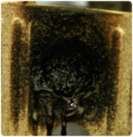 It takes about 5 minutes of exposure to an oxyacetylene flame before the FIREX 600 block even begins to show signs of damage. Damage is only visible on the side exposed to the flame, with no sign of overheating on the other side. The block is still whole and perfectly functional.